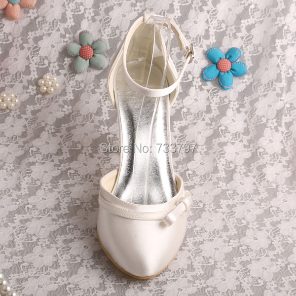 Wedopus MW232 Ankle Strap Shoes Women Wedding Sandals Closed Toe Dropshipping