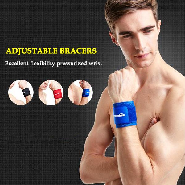 Adjustable Wrist Support Sport Tennis Weightlifting Volleyball Wristband Bracer Fitness Gym Wrap Bandage Strap Wrist Brace(China (Mainland))