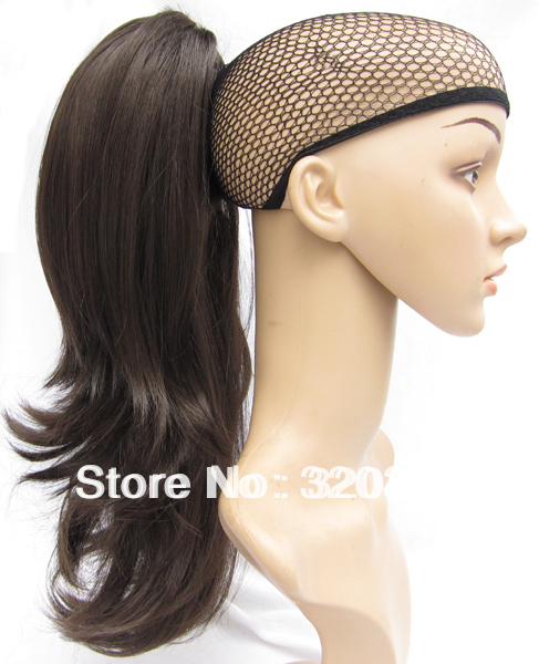 Ladys Fashion Claw on Ponytail Hairpieces Synthetic Hair 20 Long Wavy Ponytail Hair Extensions #K5 Dark Brown Free Shipping<br><br>Aliexpress