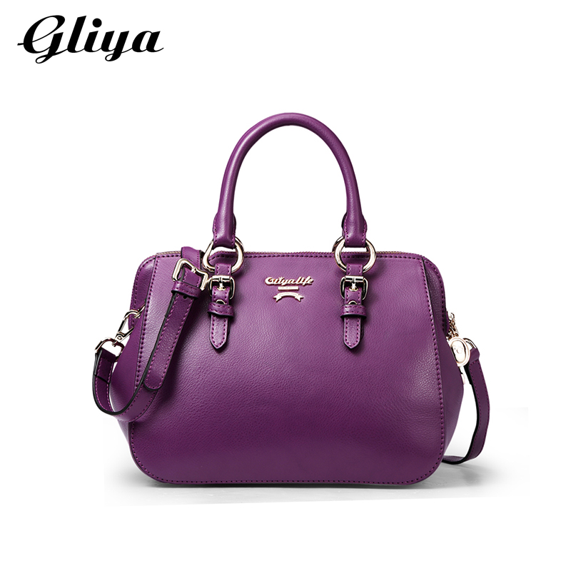 Gliya 2016 Spring Women Leather Handbags Solid Cowhide Hobos Bag Candy Color Small Bags Famous Brand Shoulder Bag G14187<br><br>Aliexpress