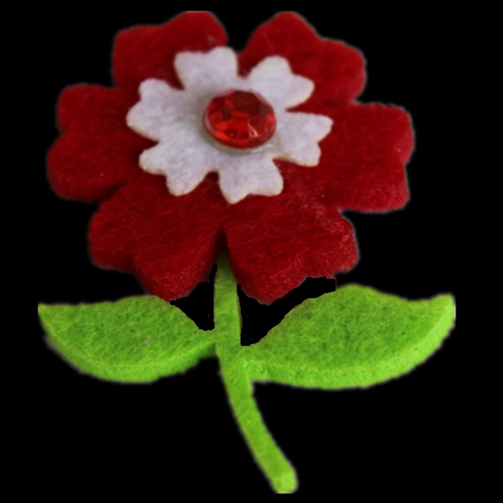 Red felt cloth clothing flowers Felt cloth clothing accessories flowers needlework ower Free transport shippingFelt Flower(China (Mainland))
