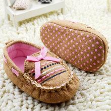 Belle Brown Casual infantile bébé chaussures semelle souple bébé coton Crib chaussures pré - walker 0 - 18 M(China (Mainland))