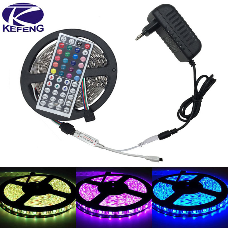 SMD 5050 RGB LED strip light non waterproof 5M 150leds fita de led tape set+RGB IR Remote Controller+DC 12V 3A 36W Power Adapter(China (Mainland))