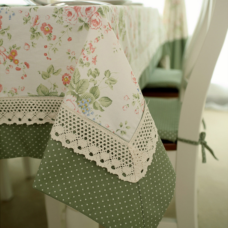 Knitting Pattern For Lace Tablecloth : Elegant Home Textile Tablecloth Lace Table Cloth Knitted Vintage Dining Table...