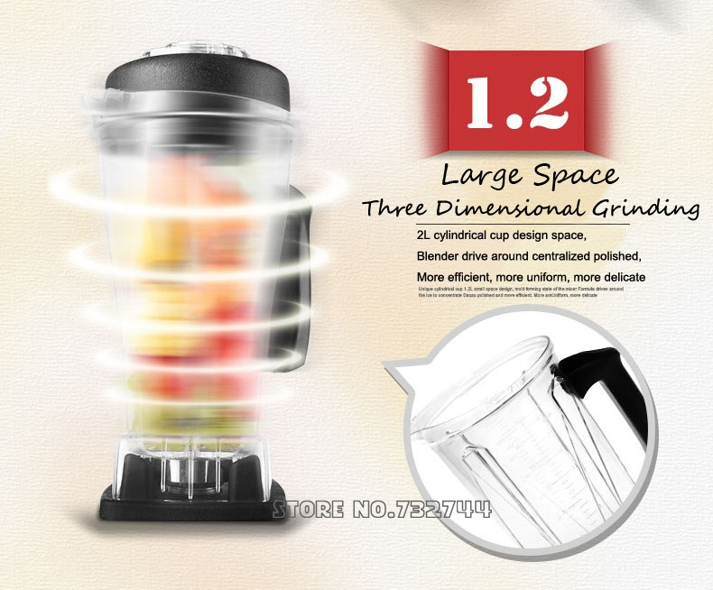 2200w Commerical Blender Mixer Juicer With Bpa Free Jar