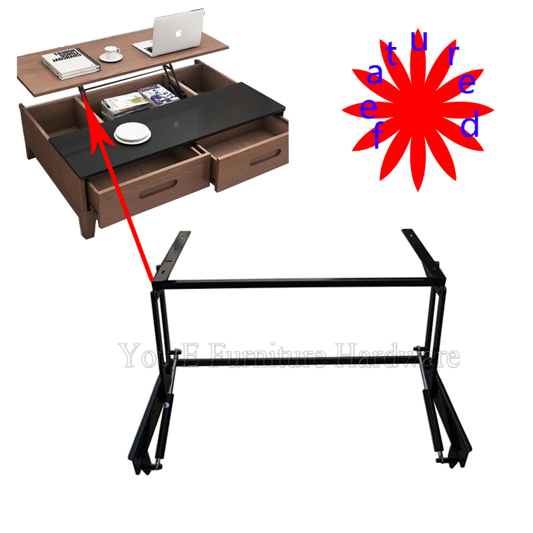 featured black Furniture Mechanism with pneumatic rod for Lift Up Coffee Table or Table D07-1(China (Mainland))