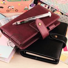 2017 PU Leather Notebook A5 A6 Planner Agenda Vintage Loose-Leaf Time Diary Journal School Supplies Material Escolar - One-Stop Stationery& Sports Store store