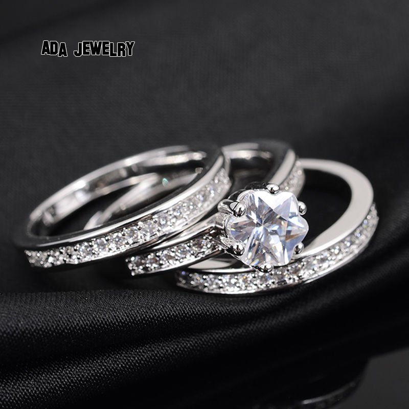 Wholesale 3 Circles High Quality Eternal Flower Cz Diamond Finger