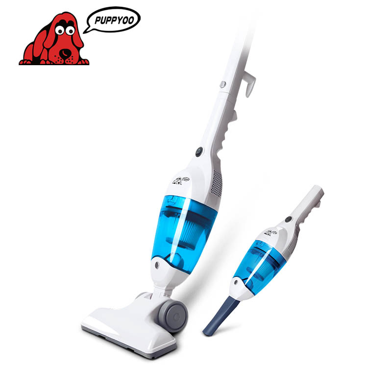 New Ultra Quiet Mini Home Rod Vacuum Cleaner Portable Dust Collector Home Aspirator White&Blue Color WP3006 PUPPYOO()