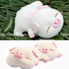 Cute Pig Car Air Freshener Purifier Active Carbon Bamboo Charcoal Package Bag Toy(China (Mainland))