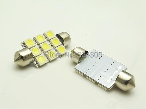 50 X Dome led 41mm 9 SMD 5050 LED White Interior Festoon Car Auto Light reading Lamp Bulb - store