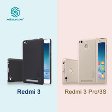 Xiaomi Redmi 3 Case Nillkin Frosted Shield Hard Back Cover Case For Xiaomi Redmi 3 Pro / 3S Hongmi 3 5inch With Screen Protector(China (Mainland))