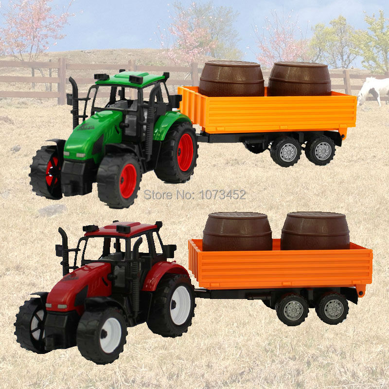 Big size friction power Farmer truck toy farm tractor play set non-toxic ABS plactic car model vehicle toy gift for boy(China (Mainland))