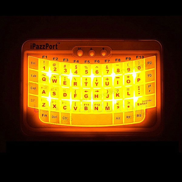 Mini Bluetooth Wireless Handheld Illuminated Backlit Keyboard For PC iPhone 5/4(China (Mainland))