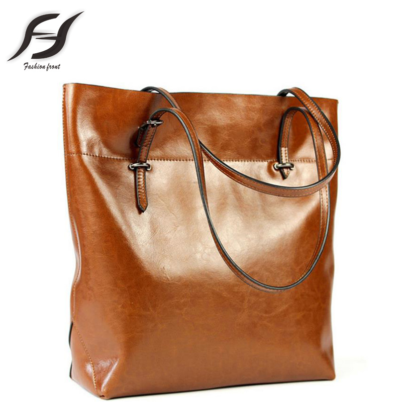 New Fashion Oil Wax Genuine Leather Bags Cowhide Women Real Leather Handbag Vintage Messemger Shoulder Bag For Women Tote Bolsas<br><br>Aliexpress