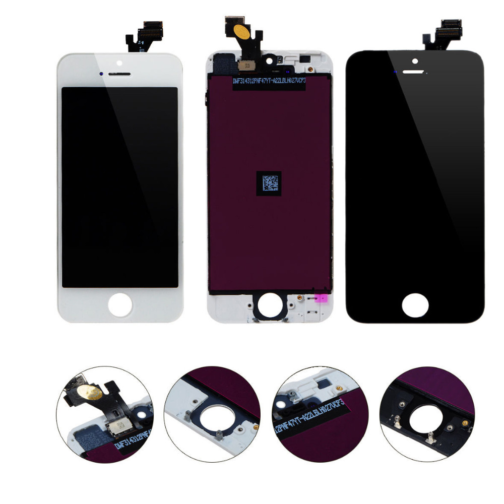 For iPhone 5S 5G 5C 4G LCD Screen Display + Touch Screen Digitizer + Frame Assembly Replacement No Dead Pixel LCD Free Shipping(China (Mainland))