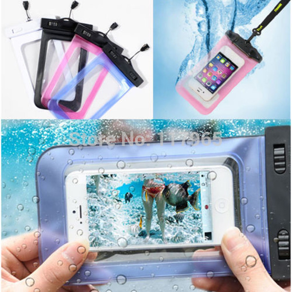 PVC durable Waterproof Phone Cases Underwater Phone Bag Pouch Dry For Iphone 4/5S/6/6 plus For Samsung S2/S3 100% sealed EC138(China (Mainland))