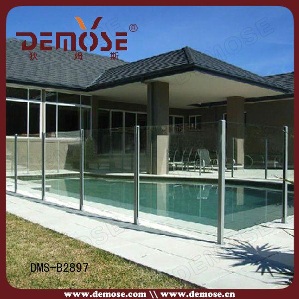 Plexiglass glass deck railing child safety pool fence on for Plexiglass pool fence