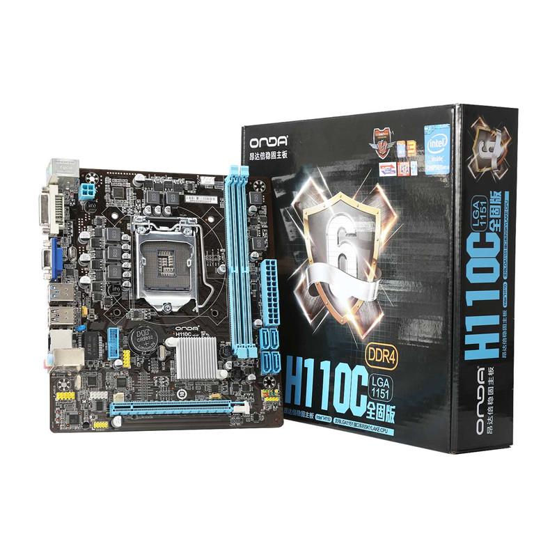 Onda H110C Motherboard Mainboard Systemboard for Intel H110/LGA 1151 mATX SATA USB 3.0 DDR4 Dual Channel for Desktop Computer(China (Mainland))