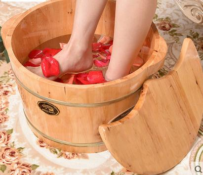 Barrel foot bath barrels of barrel bubble foot basin to wash feet real wood barrel massage home pedicure the bucket(China (Mainland))