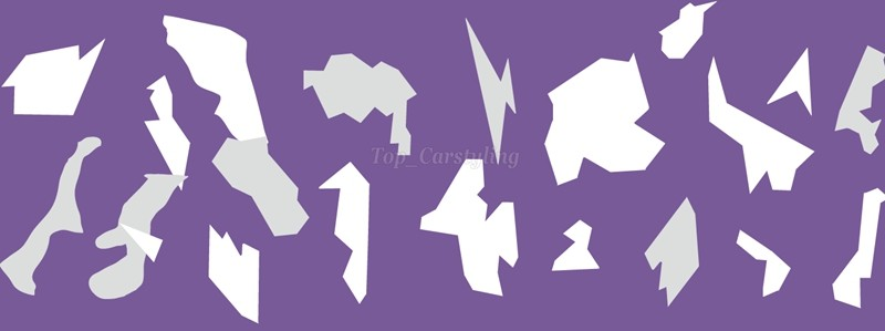 Purple whiter large pixel camo car wrapping film camouflage car styling (3)