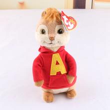 16CM Movie Alvin and the Chipmunks 4 Alvin Soft Plush Toys(China (Mainland))