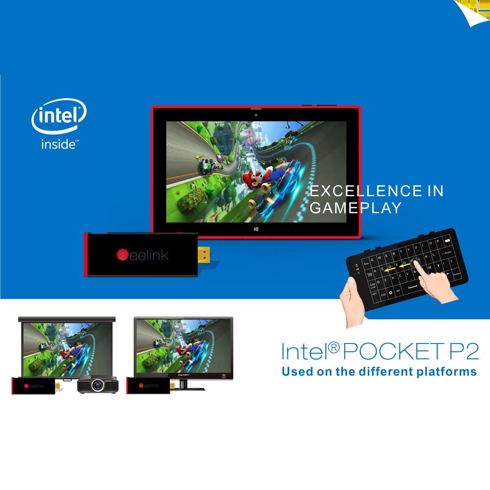 Mini PC Beelink POCKET P2 Windows 8.1 TV Box Intel Bay Trail CR Z3735F 2GB/32GB Bluetooth 4.0 WiFi Intelligent Smart Player(China (Mainland))