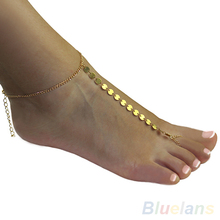 Sexy Gold Plated ankle bracelet Toe Slave  Foot  foot Jewelry Chain Sandal Beach anklets for women 03HH