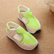 2015 ausschnitt mesh atmungsaktive Hälfte kinder sandalen süßigkeiten farbe loch kinder schuhe kleinkind sandalen für mädchen jungen(China (Mainland))