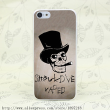 4182T Should Ve Vaped Skull Smoking Hard Transparent Cover Case for iphone 4 4s 5 5s 5C SE 6 6s Clear Cell Phone Cases