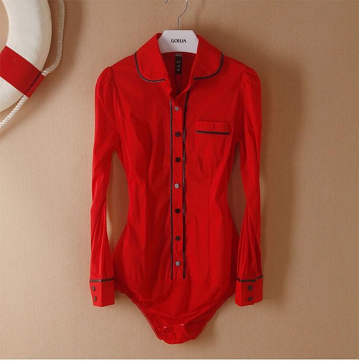 Красная Рубашка Блузка Женская Купить