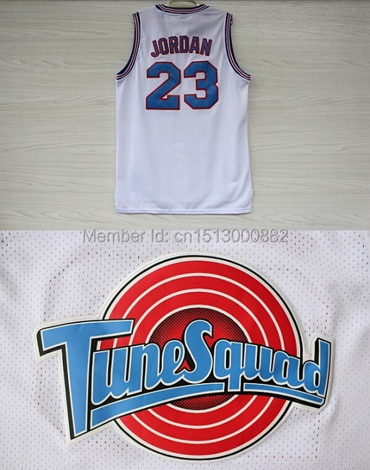 Michael Jordan 23 Space Jam Jersey White, Cheap Basketball Jerseys Tune Squad LOONEY TOONES New REV 30 Embroidery Logos - Best Supplier store