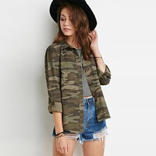 Alishebuy Women Casual Shirts Fashion Turn Down Collar Long Sleeve Camouflage Button Dwon Casual Female Blouse Blusas(China (Mainland))
