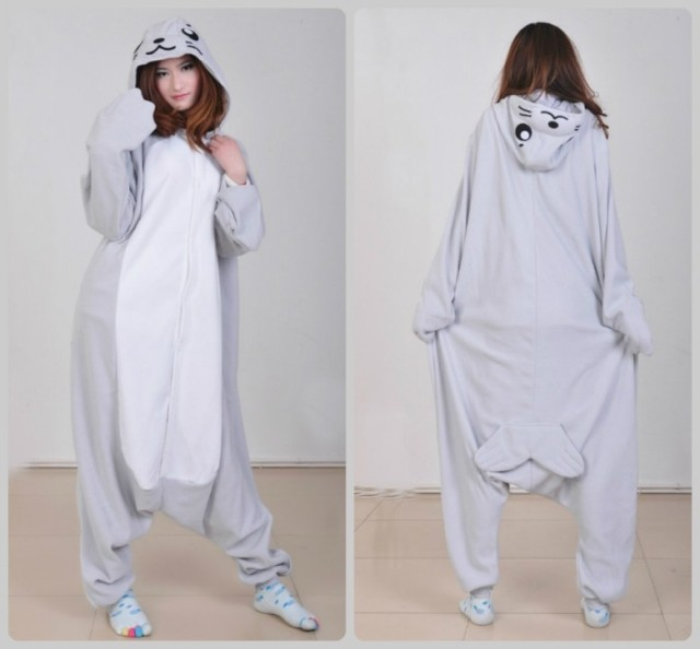 acheter phoque gris livraison gratuite pyjama animaux onesies one piece cosplay. Black Bedroom Furniture Sets. Home Design Ideas
