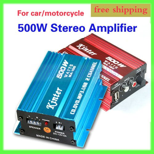 2CH 500W MOTORCYCLE CAR Stereo Amplifier Speakers MP3 ATV AMPLIFIER AMP AMPS - Y&J Electronic store