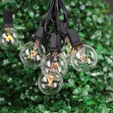 G40 String Lights with 25 Clear Globe Bulbs Decorative Lighting for Indoor/Outdoor Decor Home Garden Patio Holiday Christmas(China (Mainland))