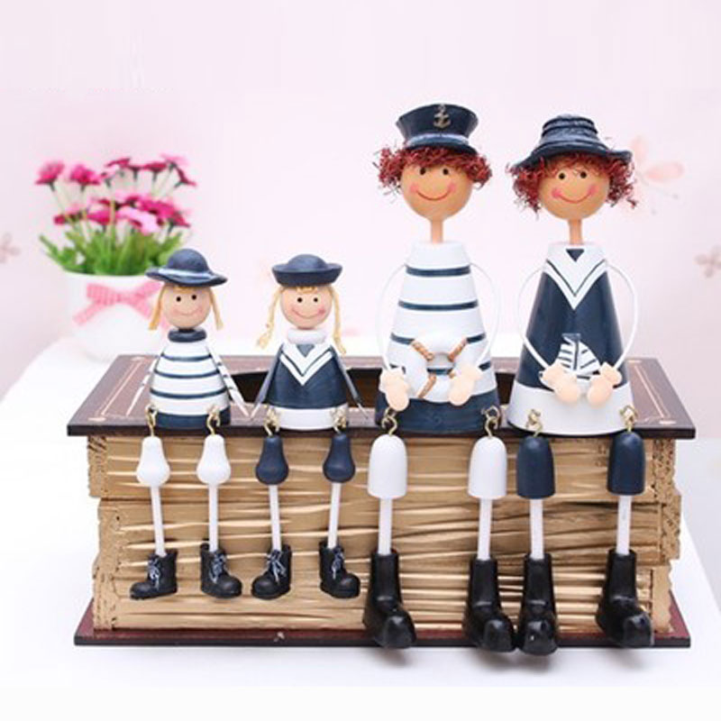 Modern <font><b>home</b></font> furnishing <font><b>decoration</b></font> <font><b>decoration</b></font> sheet European doll hanging doll Navy a handicraft.