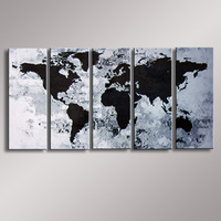 World Map painting Oil Painting  100% Hand Painted Modern Wall Art Painting ,Abstract  oil painting WM-005