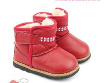 Genuine leather baby boots Non-slip waterproof baby snow boots for 3-24 month baby Botas de bebe(China (Mainland))