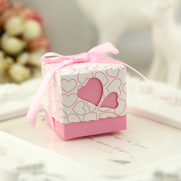 Free Shipping 1pcs Square Wedding Favor Boxes Wedding Candy Box Casamento Wedding Favors And Gifts Event & Party Supplies(China (Mainland))