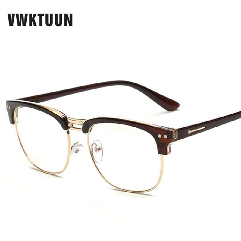 vwktuun fashion new glasses frame women men eyeglasses optical glasses frame vintage eyeglass frames female fake