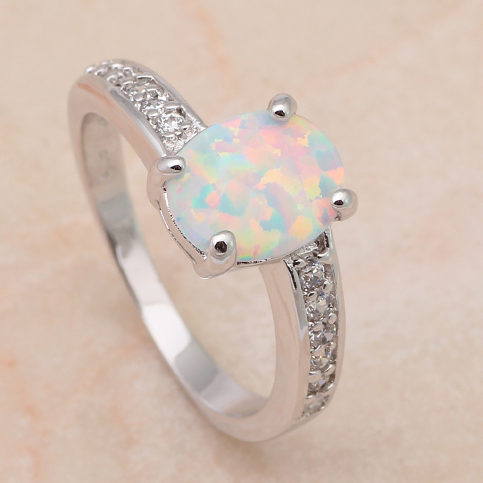 Wholesale & Retail Designer Green Fire Opal & Zircon 925 Silver Ring USA Size #6.75 #7 #7.75 #8 Fashion Jewelry OR409(China (Mainland))