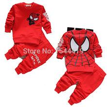 new 2015 spring autumn baby boys clothing sets spiderman children sport suit kids clothes tracksuits 2pcs cotton t shirt+pants