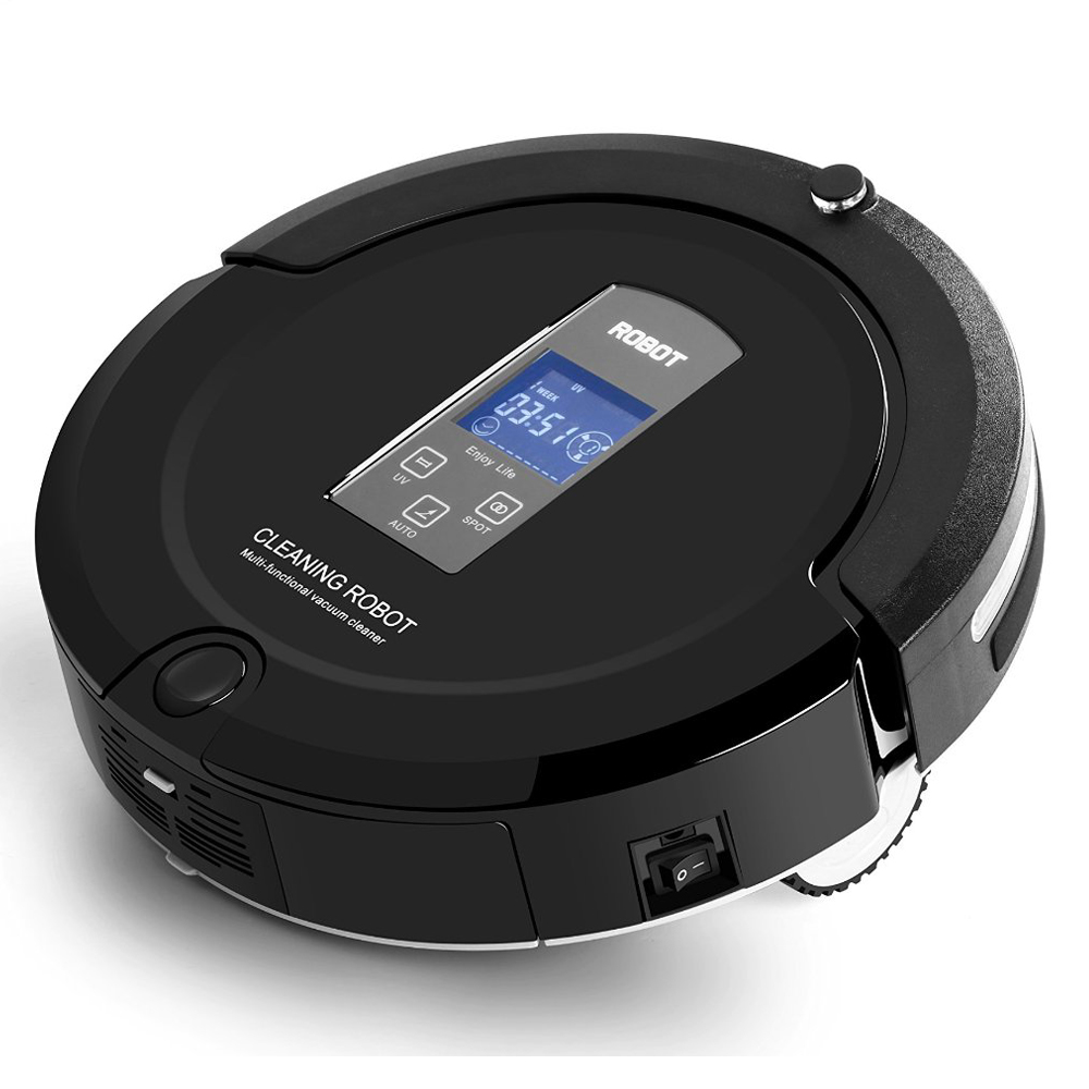 Amtidy 325 micro Robot Vacuum Cleaner black with function uv cleaner as home robot(China (Mainland))