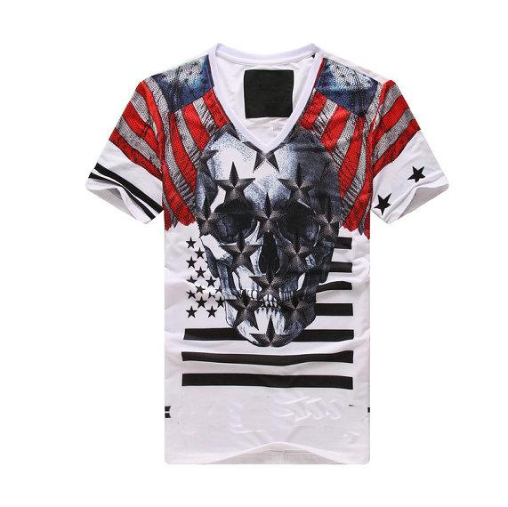 HOT ! 2015 brands P men's fashion 100% cotton o-neck short sleeve t-shirts M-L-XL-XXL 11 color 3798 - CN Fashion Shopping store