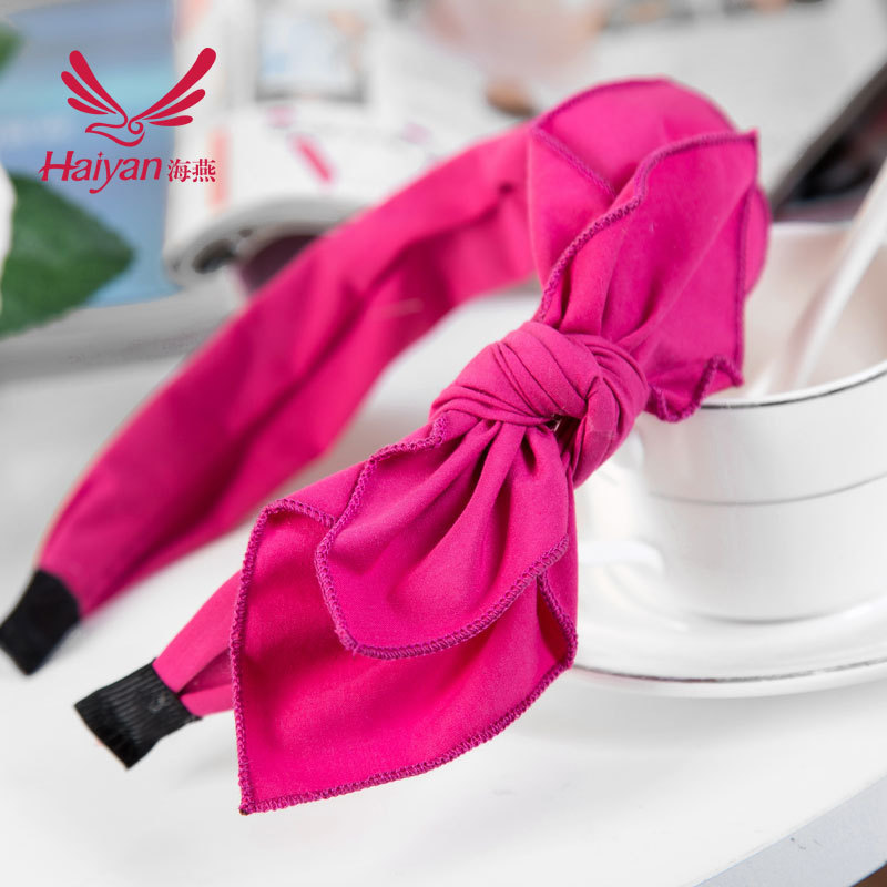 2015 Top Limited Unisex Cotton Children Active Accessories Baby [] Cloth Bow Rabbit Ears Headband Hair Imported From South Korea(China (Mainland))