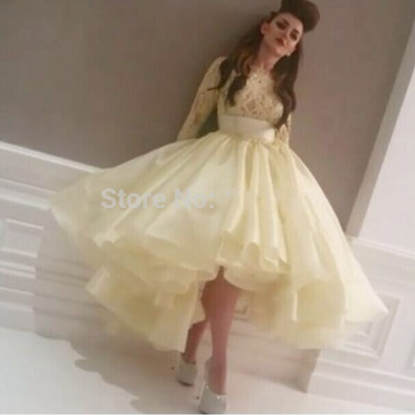 Yellow Poofy Prom Dresses 103