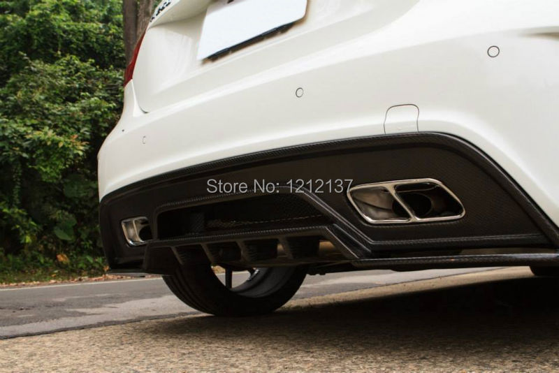 Rear Lip Designed Mercedes Benz Class W176 A45/A250/A260 Revozport Style Carbon Fiber Material - XUAN XING Auto Parts Co.,LTD store