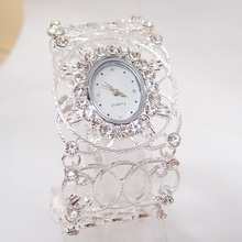 New Fashion Women Nice Crystal Bangle Watch Ladies Cuff Quartz Watch vintage watch women dress watches New Arrive PB-2