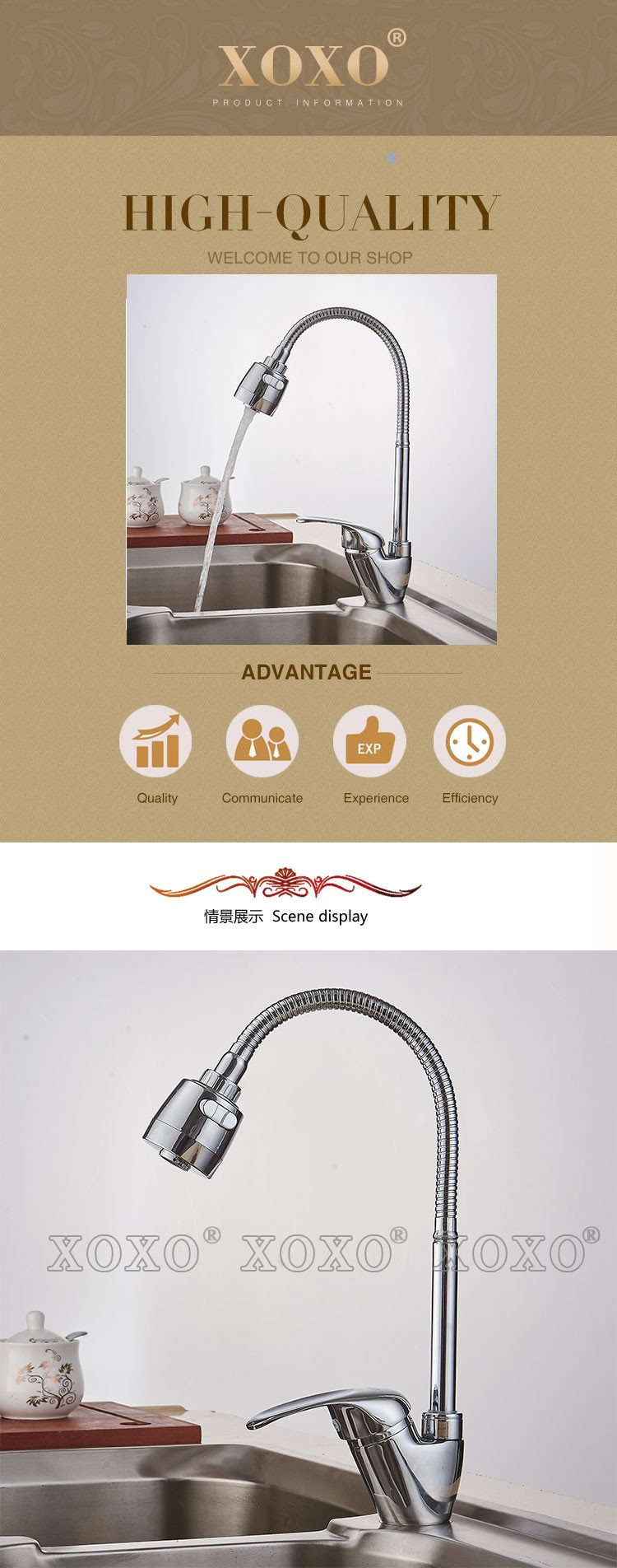 2018 Wholesale Xoxo Brass Mixer Tap Cold And Hot Water Kitchen ...